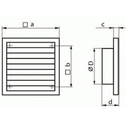 Kratka wentylacyjna nawiewno-wywiewna seria WP FMV 250