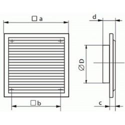 Kratka wentylacyjna nawiewno-wywiewna seria WP FMV 250/200 V
