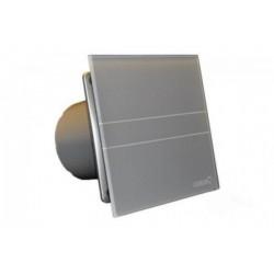 Wentylator łazienkowy (osiowy) Cata E-100 SREBRNY, szklany panel