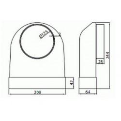 Kolano łączące przekrój 204x60 ze średnicą zewnętrzną fi 125 mm • Supertuba 204x60 • VENTS • Profesjonalna Wysyłka