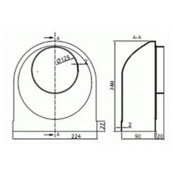 Kolano mimośrodkowe fi125 MegaDuct 951 • Vents • PROFESJONALNA WYSYŁKA