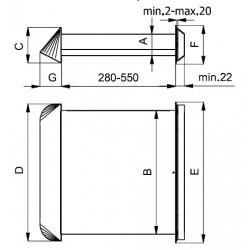 Nawietrzak ścienny z filtrem oraz regulacją wewnętrzną • NP1-ML/ML • DARCO • PROFESJONALNA WYSYŁKA