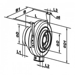 Vents VKMz 125 Q • kanałowy wentylator odśrodkowy • 230 m3/h • •PROFESJONALNA WYSYŁKA• BEZPIECZEŃSTWO ZAKUPÓW • INDYWIDUALNE