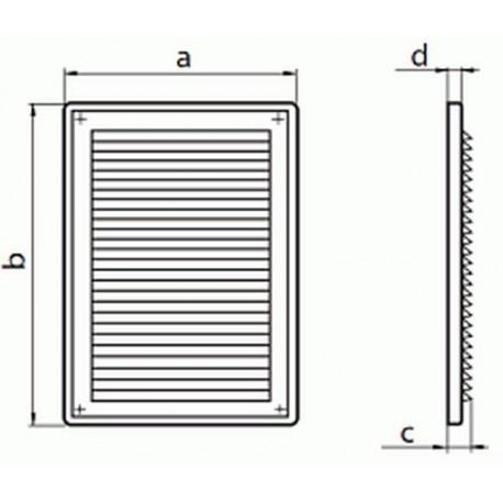 Kratka wentylacyjna nawiwno-wywiewna seria WP FMV 125