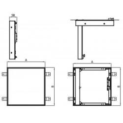 DWG 40x40-ML-B • kominkowe drzwiczki rewizyjne • DARCO • TANIA PROFESJONALNA WYSYŁKA