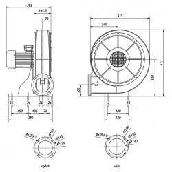 MBA 300T LG270 IE2 • Venture Industries  • wentylator przemysłowy  •  profesjonalna wysyłka•