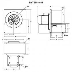 Wentylator promieniowy średniociśnieniowy GMT-500-400T  • PROFESJONALNA WYSYŁKA • INDYWIDUALNE RABATY W SKLEPIE • 690 912 712