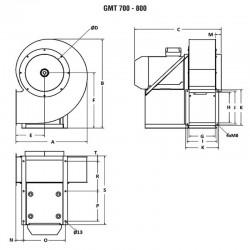 Wentylator promieniowy średniociśnieniowy GMT-750-1100T IE3  • PROFESJONALNA WYSYŁKA • INDYWIDUALNE RABATY W SKLEPIE • 690 912 7