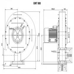 Wentylator promieniowy średniociśnieniowy GMT-900-1500T IE3  • PROFESJONALNA WYSYŁKA • INDYWIDUALNE RABATY W SKLEPIE • 690 912 7
