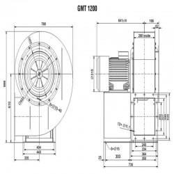 Wentylator promieniowy średniociśnieniowy GMT-1200-1500T IE3  • PROFESJONALNA WYSYŁKA • INDYWIDUALNE RABATY W SKLEPIE • 690 912