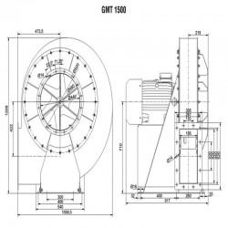 Wentylator promieniowy średniociśnieniowy GMT-1500-3700T IE3  • PROFESJONALNA WYSYŁKA • INDYWIDUALNE RABATY W SKLEPIE • 690 912