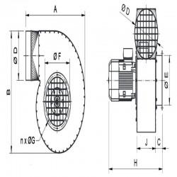 Wentylator promieniowy stanowiskowy WPA-8-E-3-N  • PROFESJONALNA WYSYŁKA • INDYWIDUALNE RABATY W SKLEPIE • 690 912 712