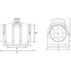 Harmann ML 160/550 diagonalny okrągły wentylator kanałowy  • •PROFESJONALNA WYSYŁKA• BEZPIECZEŃSTWO ZAKUPÓW • INDYWIDUALNE RABAT