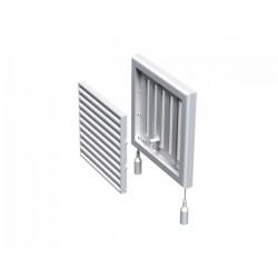 Kratka wentylacyjna nawiewna-wywiewna z regulowaną żaluzją przepływu powietrza seria WP FMV 120 R