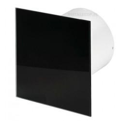 Wentylator łazienkowy (osiowy) Silent Trax Glass Czarny Połysk KWS/PTGB, 26 dB, szklany panel