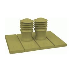 System zwieńczeń nasadą wentylacyjną ZeFir-150 dla wielorodzinnego budownictwa mieszkaniowego