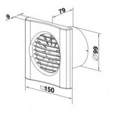 Ciche wentylatory osiowe - VENTIKA - ECHO BIS D 100Q WS