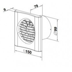 Ciche wentylatory osiowe - VENTIKA - ECHO BIS D 100Q H