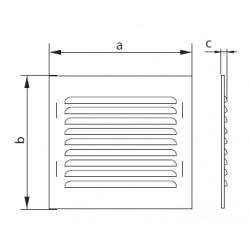 Osłona wentylacyjna z siatką ze stali - VENTIKA - Seria WX2 GR