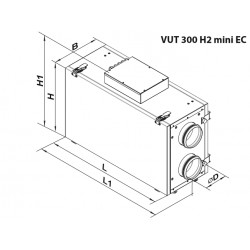 Centrala rekuperacyjna - Seria VUT 300 V2 MINI EC