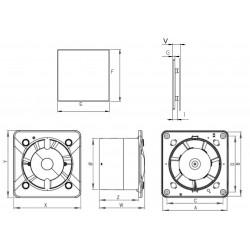 Wentylator łazienkowy (osiowy) Silent Inside płytka glazury, 26 dB • KWS 100 W + PTG 100• Awenta SYSTEM + • bardzo cichy • 690 9