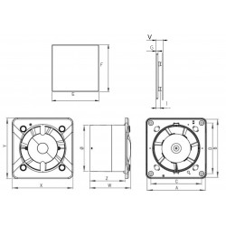 Wentylator łazienkowy (osiowy) Silent S-Line PSB, 26 dB • Awenta • bardzo cichy • TANIA PROFESJONALNA DOSTAWA