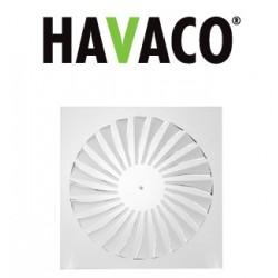 Anemostat kwadratowy - Havaco - Seria SA-B