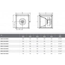 Wentylator kuchenny - Harmann - MBCK EC 450/7600 EC