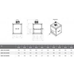 Wentylator kuchenny - Harmann - Qbox EC 355/5400