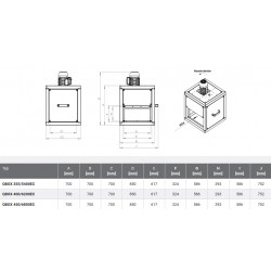 Wentylator kuchenny - Harmann - Qbox EC 450/6800