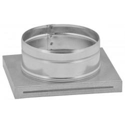 Kaseta umożliwiająca połączenie kratki kominkowej z rurą okrągłą KDP