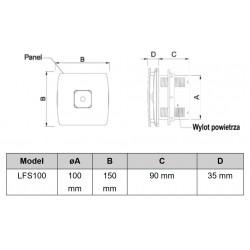 Wentylator łazienkowy (osiowy) BFS 100