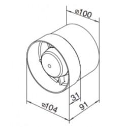 Wentylator wyciągowy z osłoną - Metrix WW 302 Z/S
