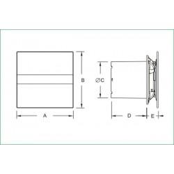 CATA E-150 GTH • TIMER, HIGROSTAT • cichy wentylator łazienkowy • szklany panel • PROFESJONALNA WYSYŁKA • BEZPIECZEŃSTWO ZAKUPÓW