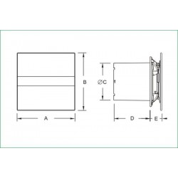 CATA E-100GSTH • TIMET • HIGROSTAT • cichy wentylator łazienkowy • szklany panel • PROFESJONALNA WYSYŁKA • BEZPIECZEŃSTWO ZAK