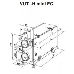 VUT 200 H mini EC A2 • Vents • centrala rekuperacyjna • TANIA PROFESJONALNA WYSYŁKA