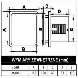 Wentylator łazienkowy (osiowy) BFS100LT-S (LED + timer)